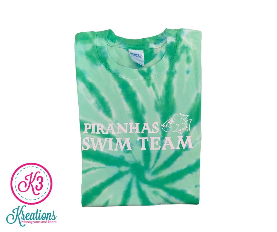 Short Sleeve Tie-Dye T-shirt with Choice of Greenbrier Logo