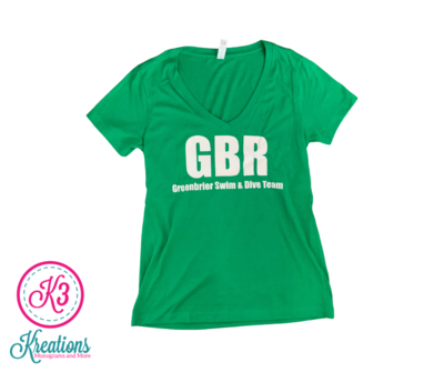 Ladies V-Neck with choice of Greenbrier Logo