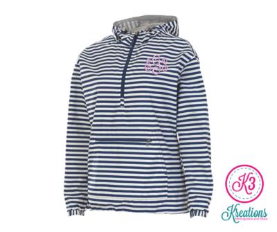 Ladies Chatham Navy/White Stripe Anorak