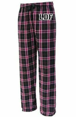 Girls LDF Black & Pink Plaid Flannel Pajama Pants (LDF)