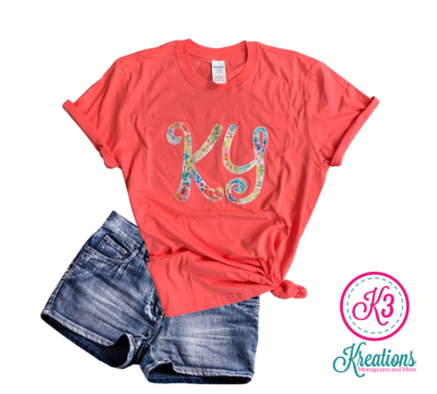 Adult KY Curly Embroidered Softstyle Short Sleeve Tee