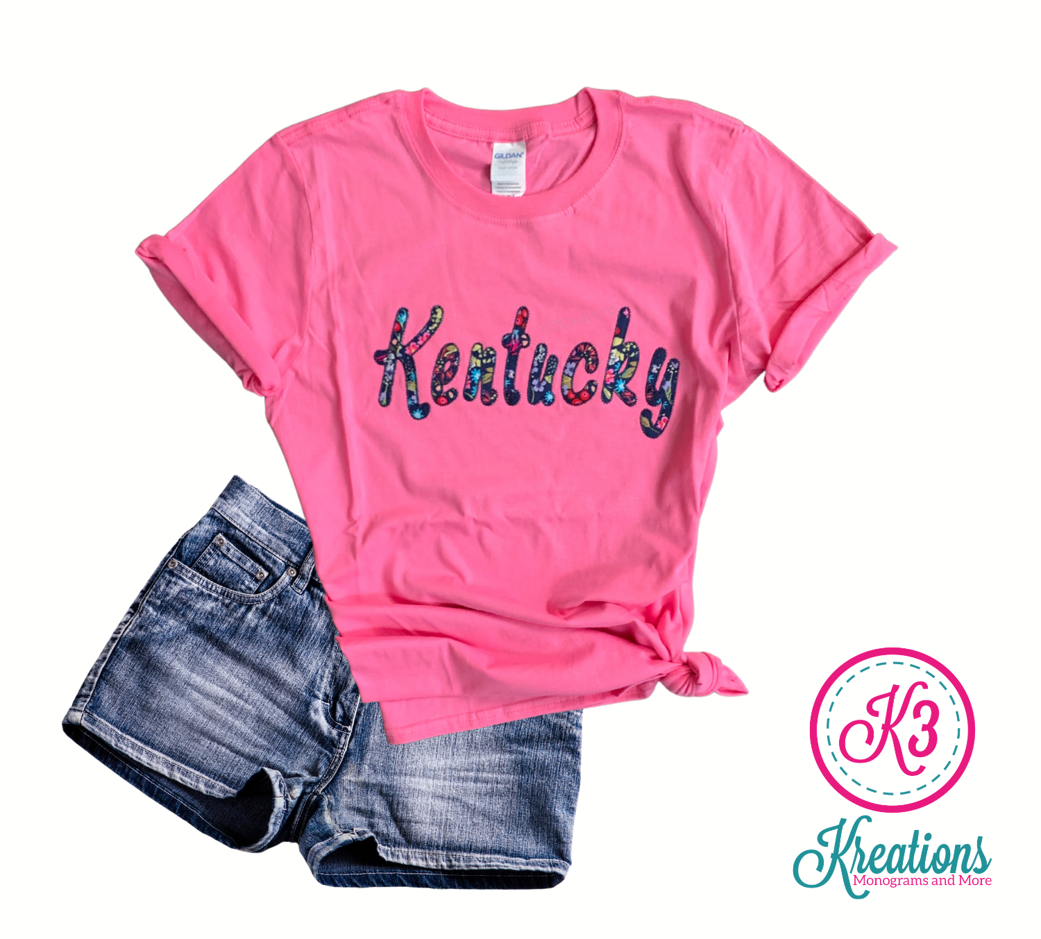 Adult Kentucky Embroidered Softstyle Short Sleeve Tee