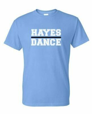 Hayes Dance Gildan Blue Dry Blend T-Shirt