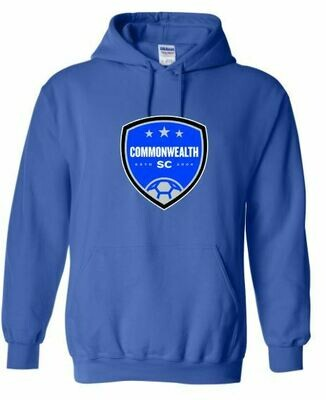 Adult Commonwealth SC Front Chest Design Hooded Sweatshirt (CSC)
