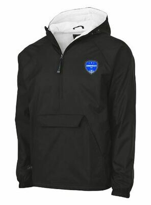 Youth Charles River Commonwealth SC 1/2 Zip Lined Rain Pullover (CSC)