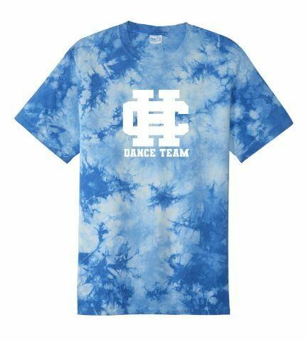 Unisex HC Dance Team Blue Tie-Dye Short Sleeve Tee (HCDT)