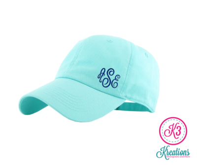 Embroidered Side Monogram Ball Cap