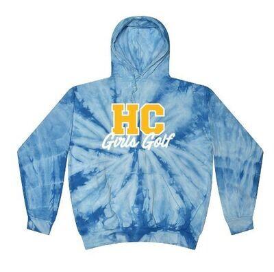 Baby Blue Tie-Dye HC Girls Golf Golf Hoodie (HCGG)