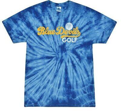 Blue Devils Golf Royal Tie-Dye Short Sleeve Tee (HCGG)