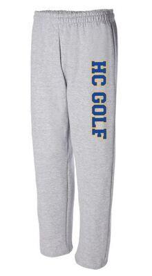 HC Golf Grey Heavy Blend Open Bottom Sweatpants