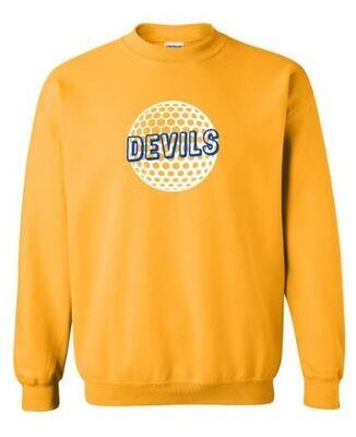 Devils Golf Gold Crewneck Sweatshirt (HCGG)