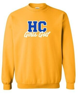HC Girls Golf Crewneck Sweatshirt (HCGG)