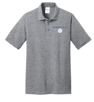Mens Henry Clay Golf Left Chest Design Core Blend Pique Polo (HCGG)