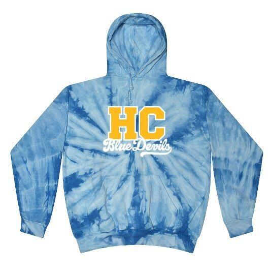 Baby Blue Tie-Dye HC Blue Devils Hoodie (HCGG)
