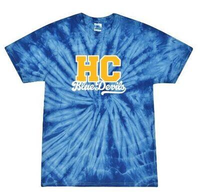 HC Blue Devils Tie-Dye Short Sleeve Tee (HCGG)