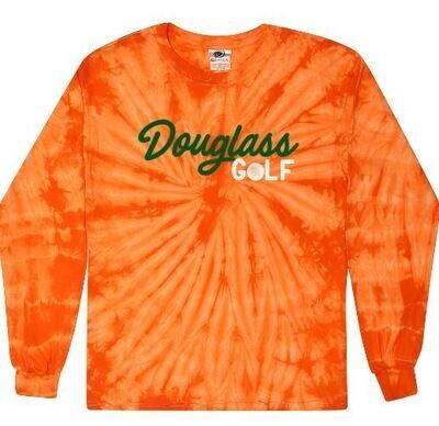 Douglass Golf Orange Tie-Dye Long Sleeve Tee (FDG)