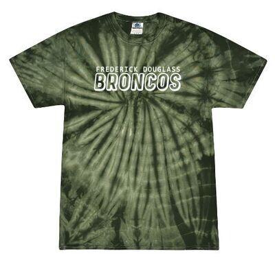 Frederick Douglass Broncos Forest Tie-Dye Short Sleeve Tee (FDG)