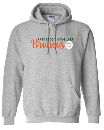 Frederick Douglass Broncos Golf Hooded Sweatshirt (FDG)