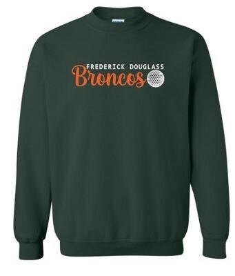 Frederick Douglass Broncos Golf Crewneck Sweatshirt (FDG)