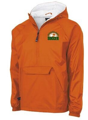 Charles River 1/2 Zip Lined Rain Pullover - Douglass Soccer left chest design (FDGS)