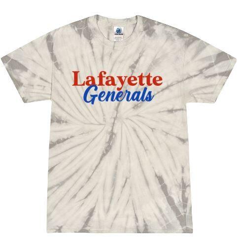 Unisex Adult Lafayette Generals Mixed Font Tie Dye Short Sleeve Tee (LDT)