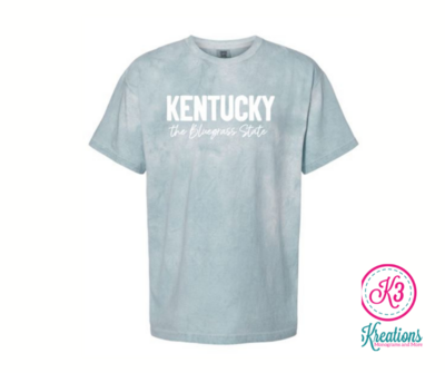 Comfort Colors Colorblast Kentucky the Bluegrass State Short Sleeve Tee