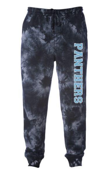 Unisex Adult Panthers Tie Dye Fleece Sweatpants (HDT)