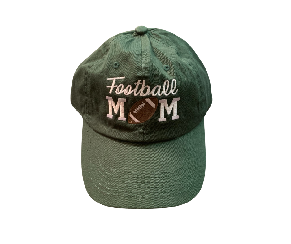 Football Mom Non-Distressed or Distressed Hat (FDF)