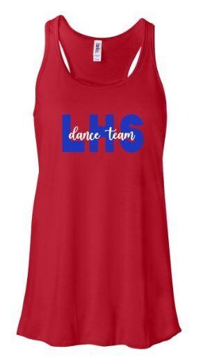 LHS Dance Team Bella + Canvas Black Flowy Tank (LDT)