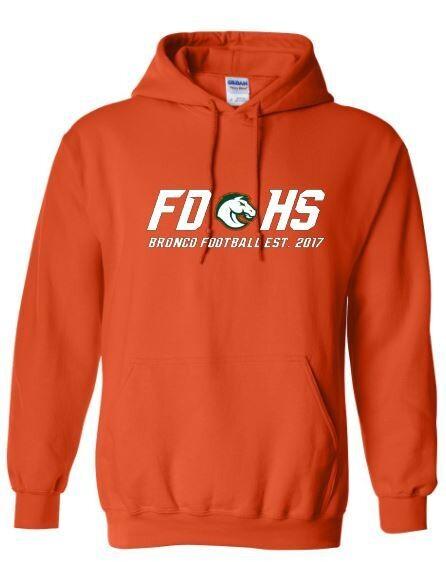 Unisex FDHS Bronco Football Hooded Sweatshirt (FDF)