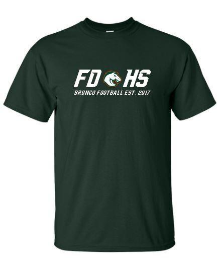 Unisex FDHS Bronco Football Short Sleeve Tee (FDF)