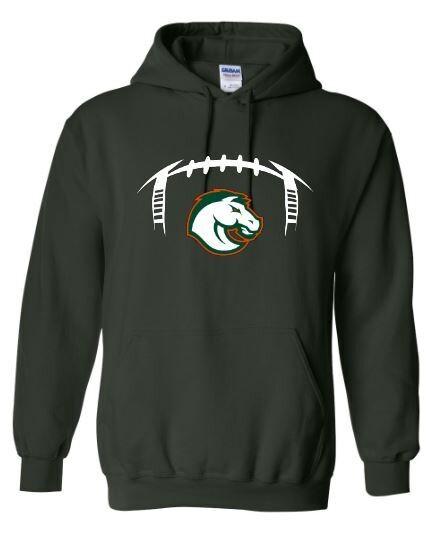 Unisex Football Laces and Bronco Hooded Sweatshirt (FDF)
