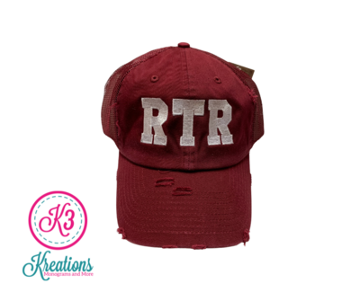 Roll Tide Roll Alabama Embroidered Distressed or Non-Distressed Cap