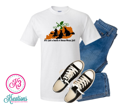 Unisex It's Just a Bunch of Hocus Pocus Y'all Kentucky State Short Sleeve Tee