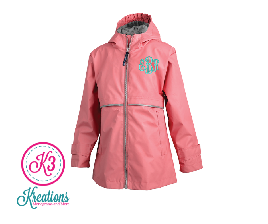 Girls Charles River New Englander Rain Jacket