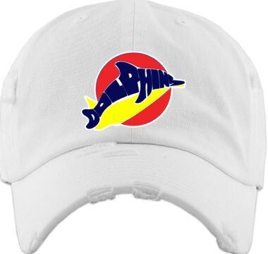 Distressed Dolphins Ball Cap (LEXD)