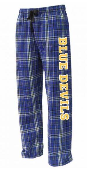 Unisex Adult Blue Devils Flannel Pants (HCDT)
