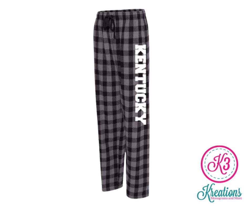 Adult Kentucky Charcoal/Black Buffalo Flannel Pants