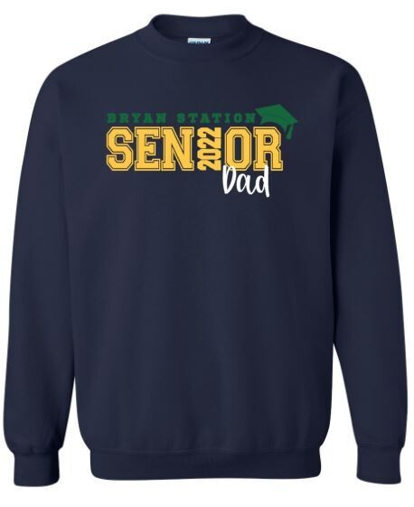 Unisex Adult Bryan Station Senior Dad Crewneck Sweatshirt (BSV)