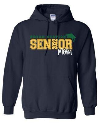 Unisex Adult Bryan Station Senior Mom Hooded Sweatshirt (BSV)