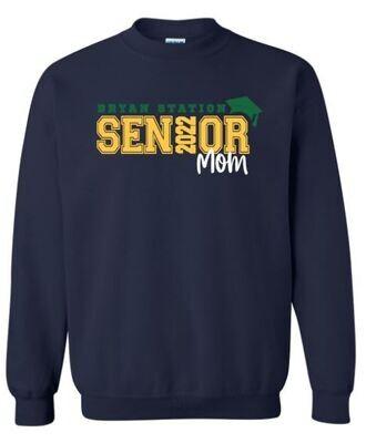 Unisex Adult Bryan Station Senior Mom Crewneck Sweatshirt (BSV)
