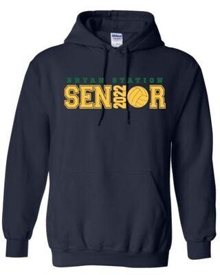 Unisex Adult Bryan Station Volleyball Senior Hooded Sweatshirt (BSV)