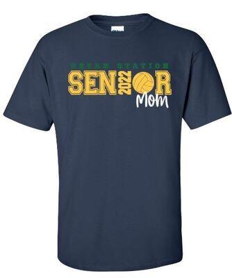 Unisex Adult Bryan Station Volleyball Senior Mom Short Sleeve Tee (BSV)