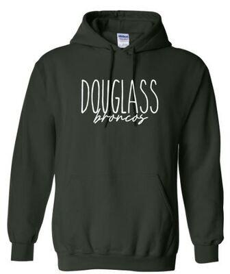Unisex Adult Douglass Broncos Hoodie (FDDT)
