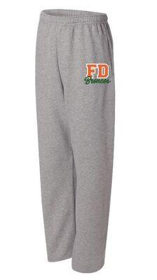 Unisex Adult FD Broncos JERZEES NuBlend Open Bottom Sweatpants (FDDT)