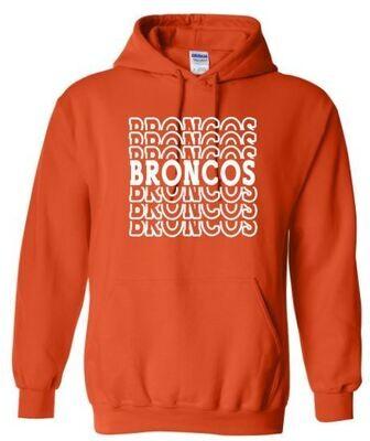 Broncos Stacked Hooded Sweatshirt (FDDT)