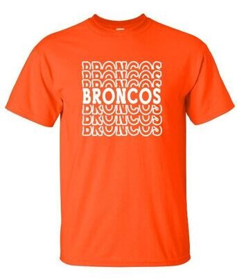 Broncos Stacked Short OR Long Sleeve Tee (FDDT)