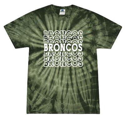 Broncos Stacked Tie-Dye Short Sleeve Tee (FDDT)