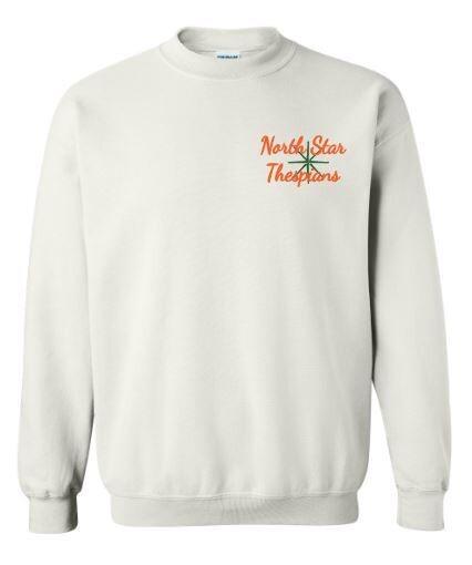 Unisex Adult Left Chest Embroidered North Star Thespians Logo Crewneck Sweatshirt (NST)