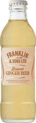 Franklin & Sons Brewed Ginger Beer (Pack of 4)